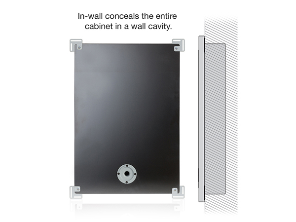 SoundFrame in-wall speaker diagram.