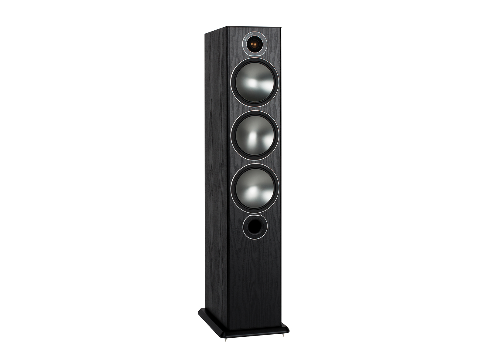 Bronze 6 Floorstanding Speakers Monitor Audio 7 1 Home Theater Wiring Diagram Grille Less With A Black Oak Vinyl Finish
