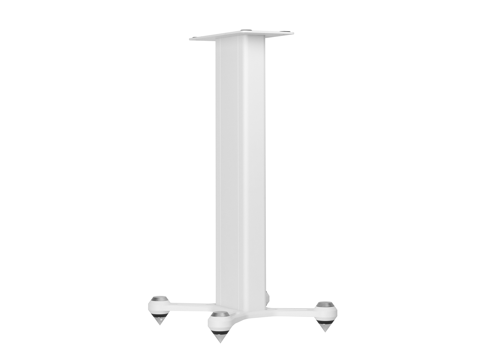 Speaker STAND, front view in a white finish.