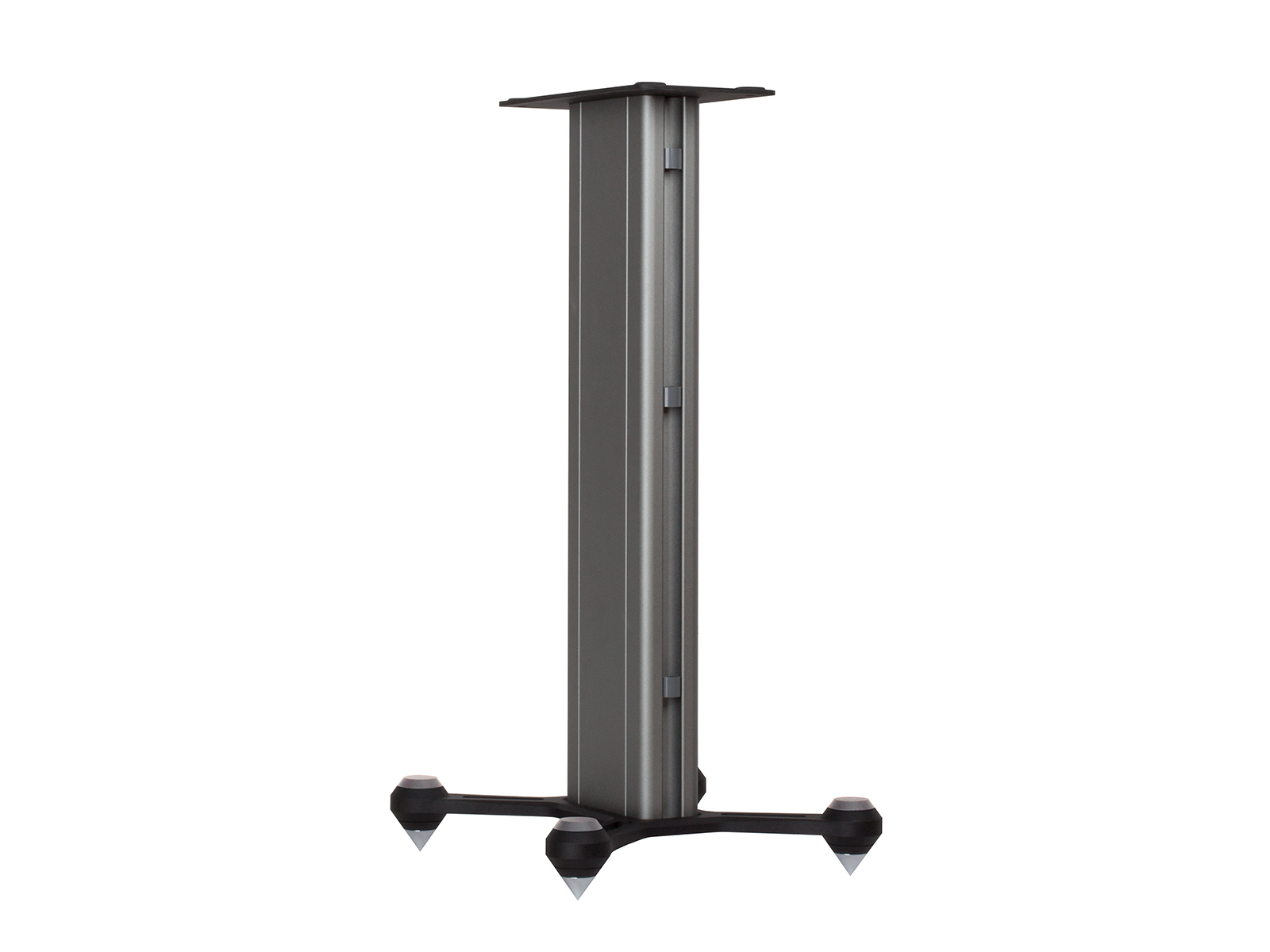 Speaker STAND, rear view in a black finish.