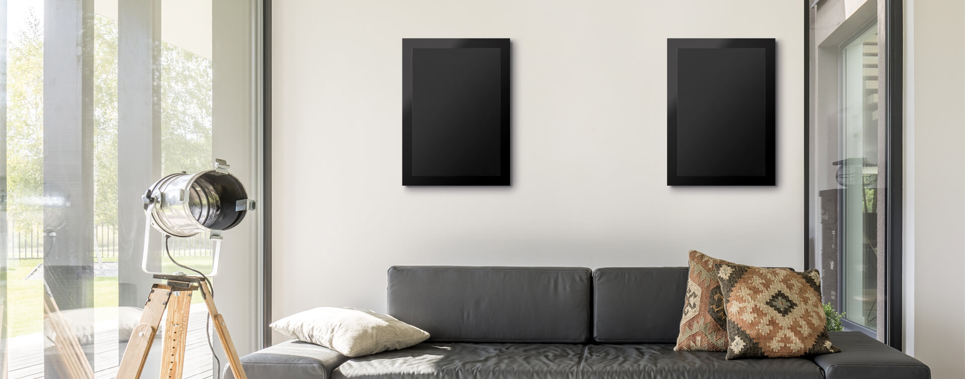 SoundFrame SF1 on-wall speakers.