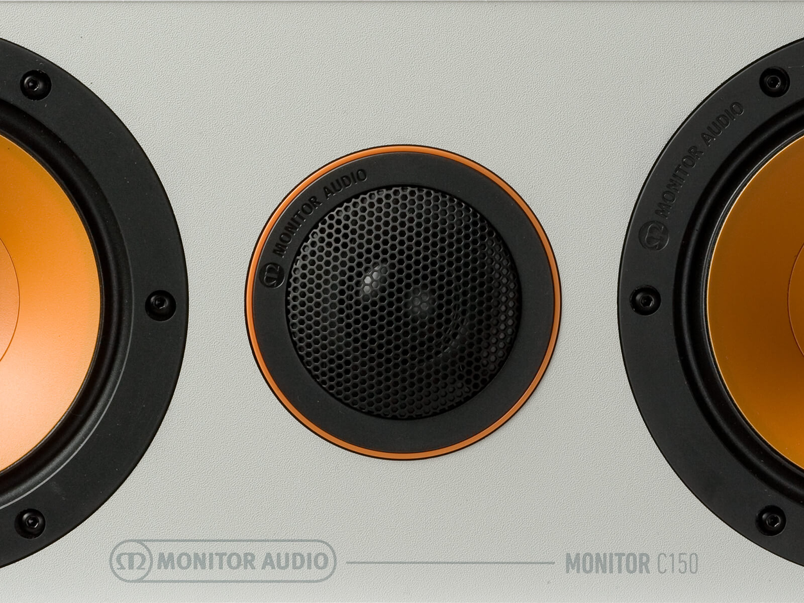 Monitor C150, centre channel speakers, front detail.