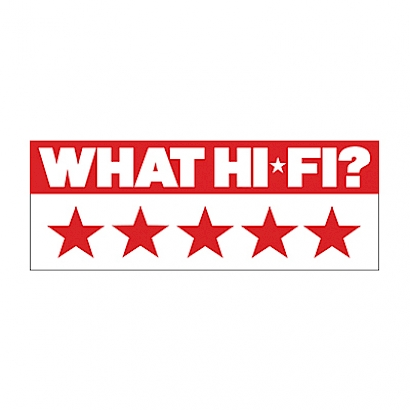 Image for product award - What Hi-Fi? gives Silver 100 5 stars