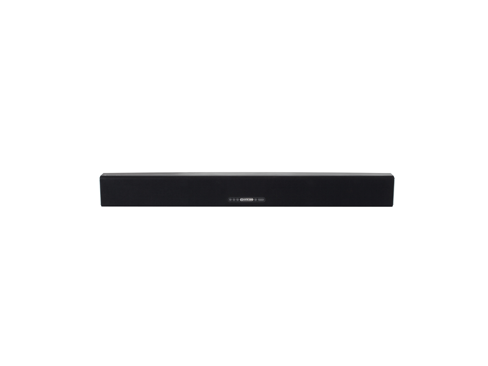 ASB-10, active soundbar speaker, front-on, with a black cloth grille.