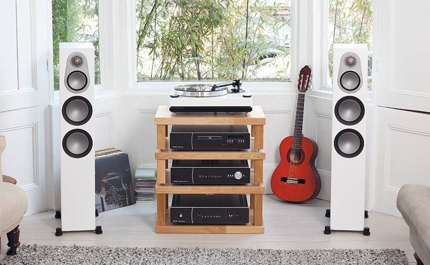 Image result for Monitor Audio Silver 300 Floorstanding Speakers