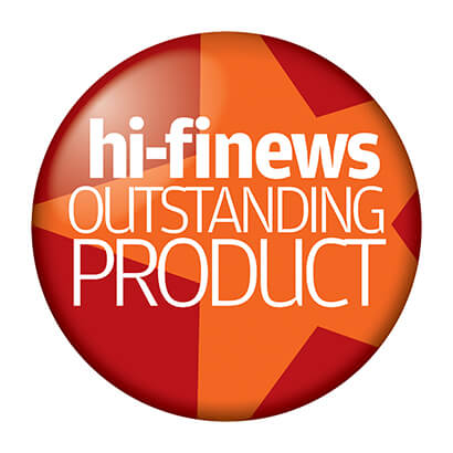 Image for product award - Gold 100 wins Hi-Fi News Outstanding Product award