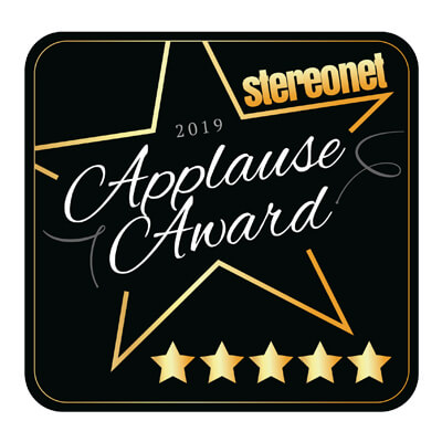 Image for product award - Gold 100 wins Stereonet's Applause Award