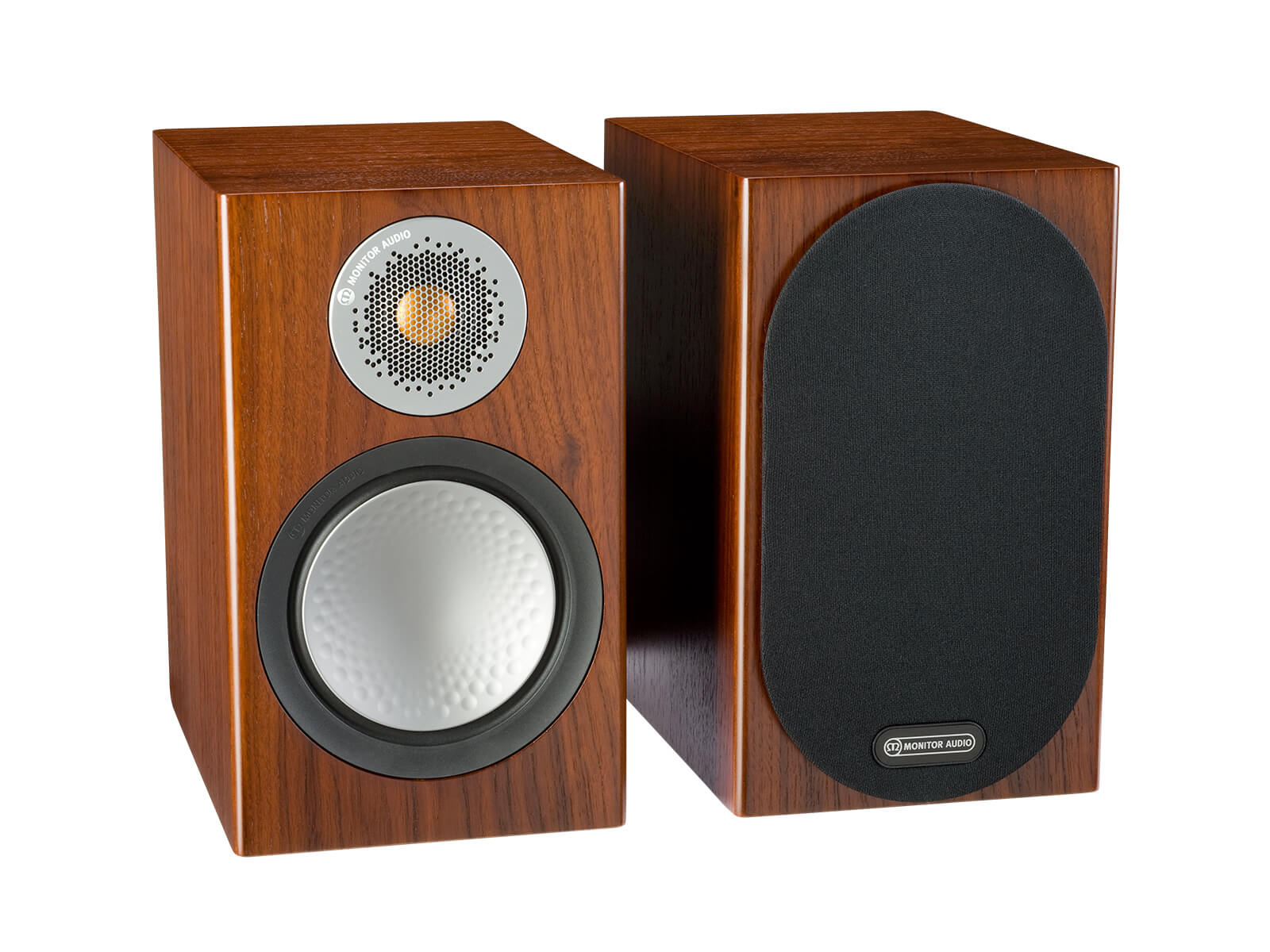 Silver 50 Bookshelf Speakers Monitor Audio