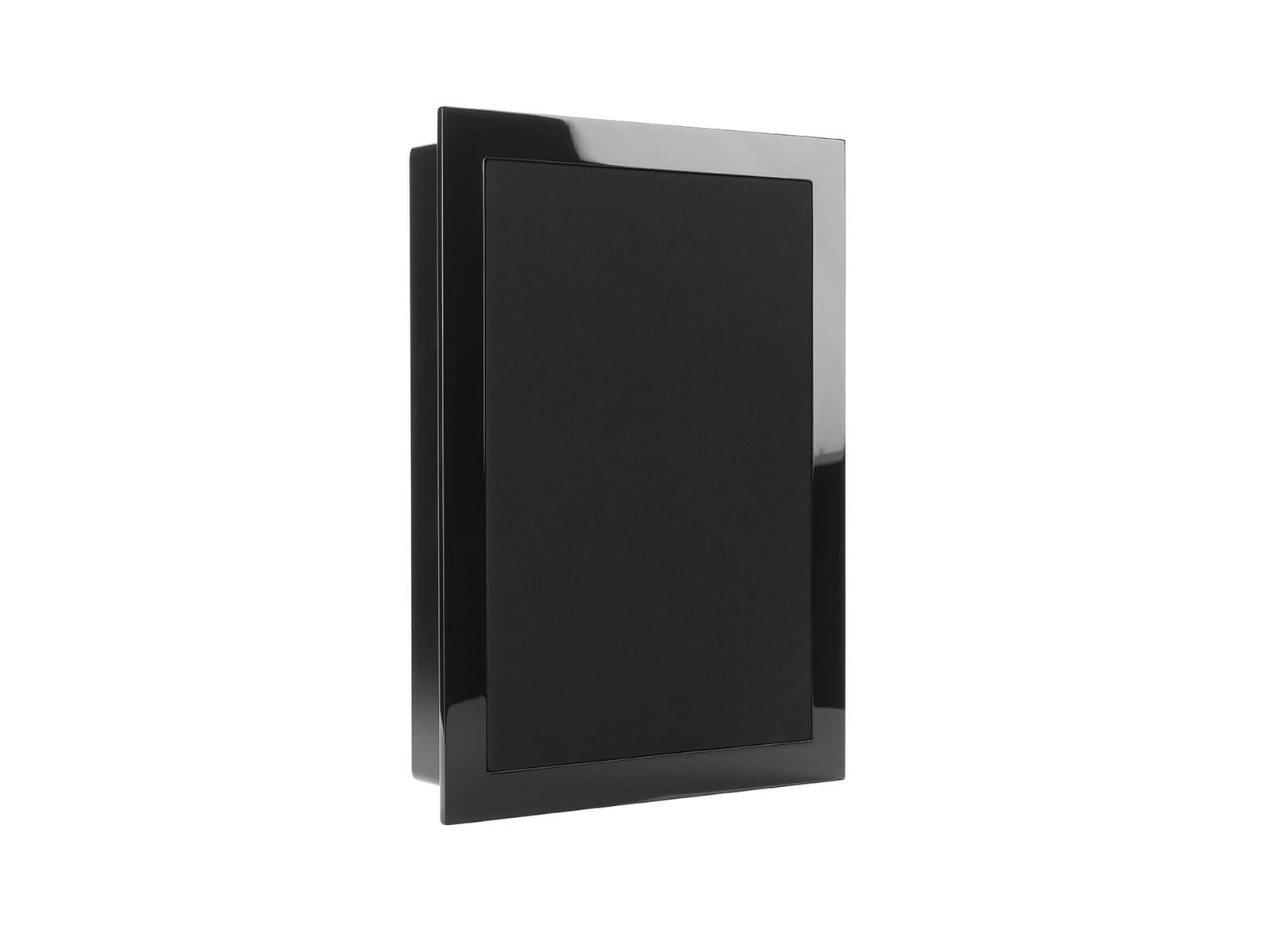 SoundFrame SF1, on-wall speakers, with a high gloss black lacquer finish.