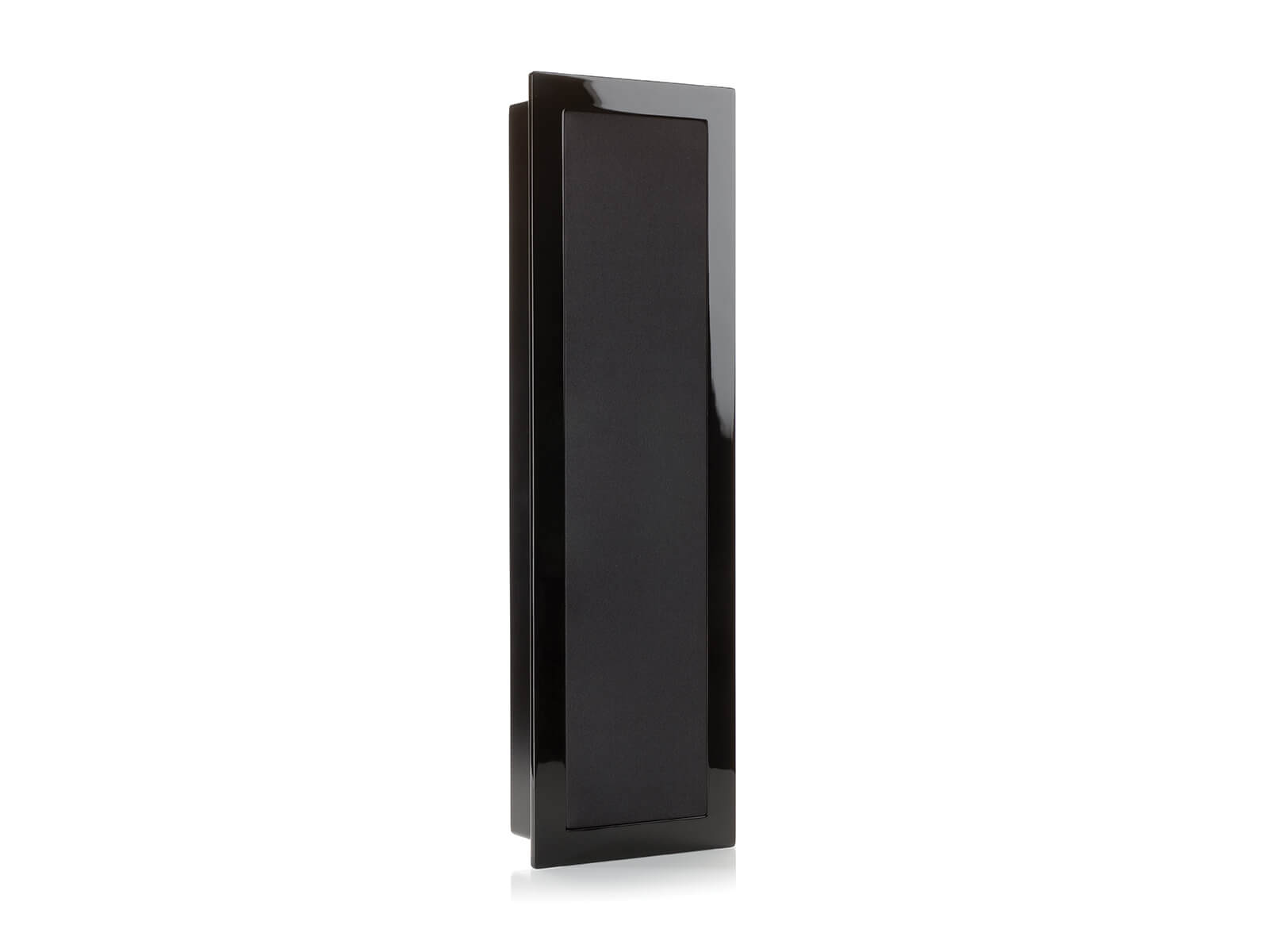 SoundFrame SF2, on-wall speakers, with a high gloss black lacquer finish.