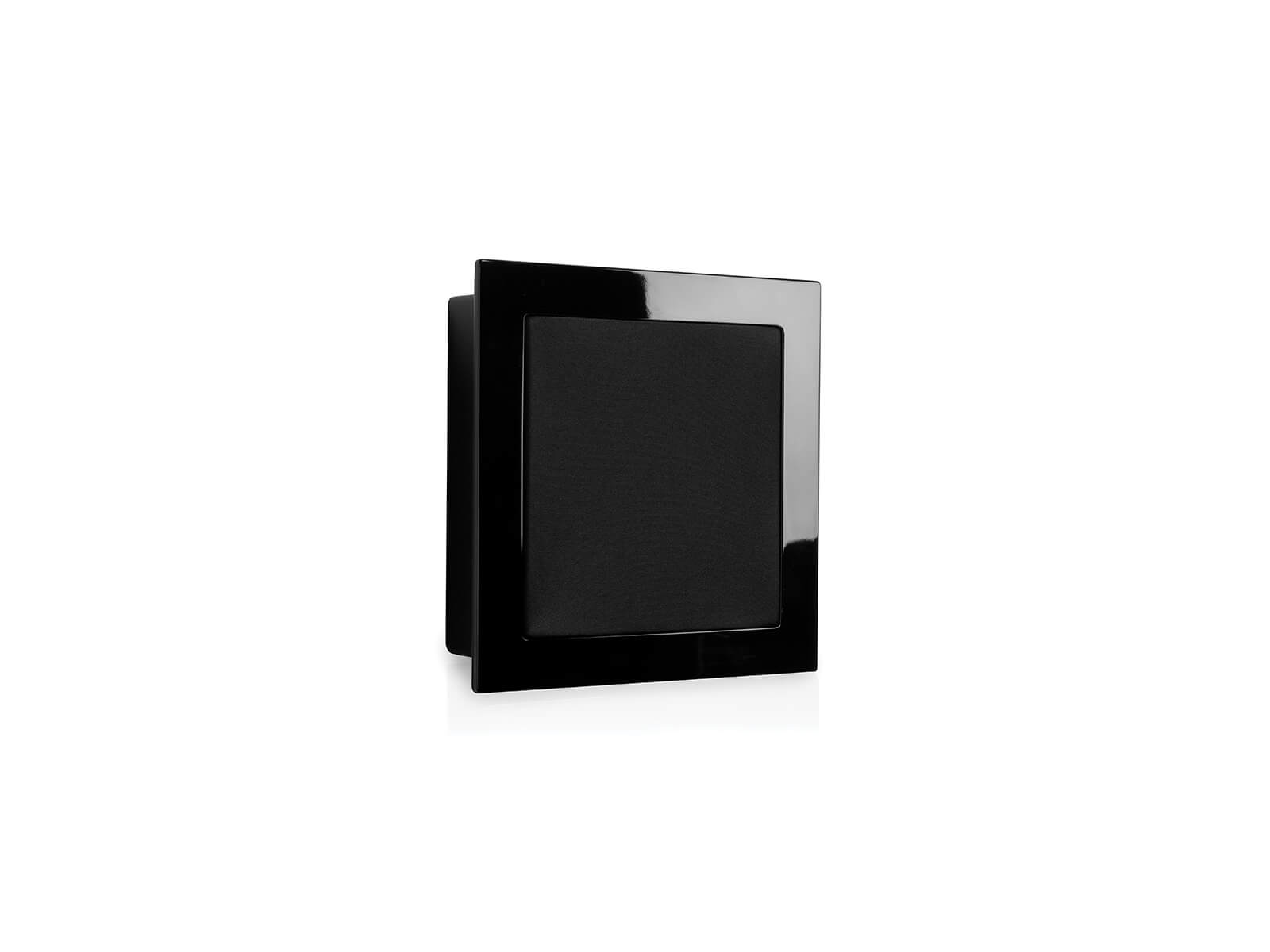 SoundFrame SF3, on-wall speakers, with a high gloss black lacquer finish.
