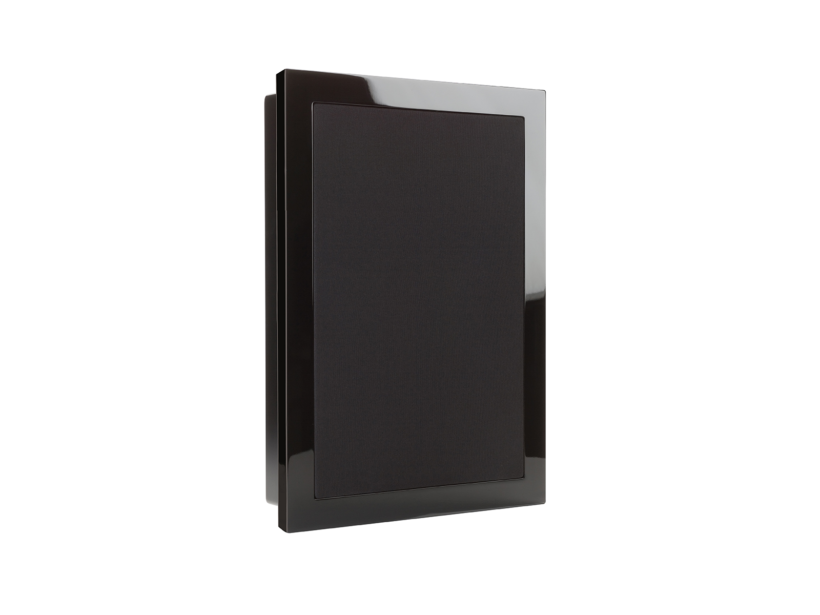 SoundFrame SF1, in-wall speakers, with a high gloss black lacquer finish.