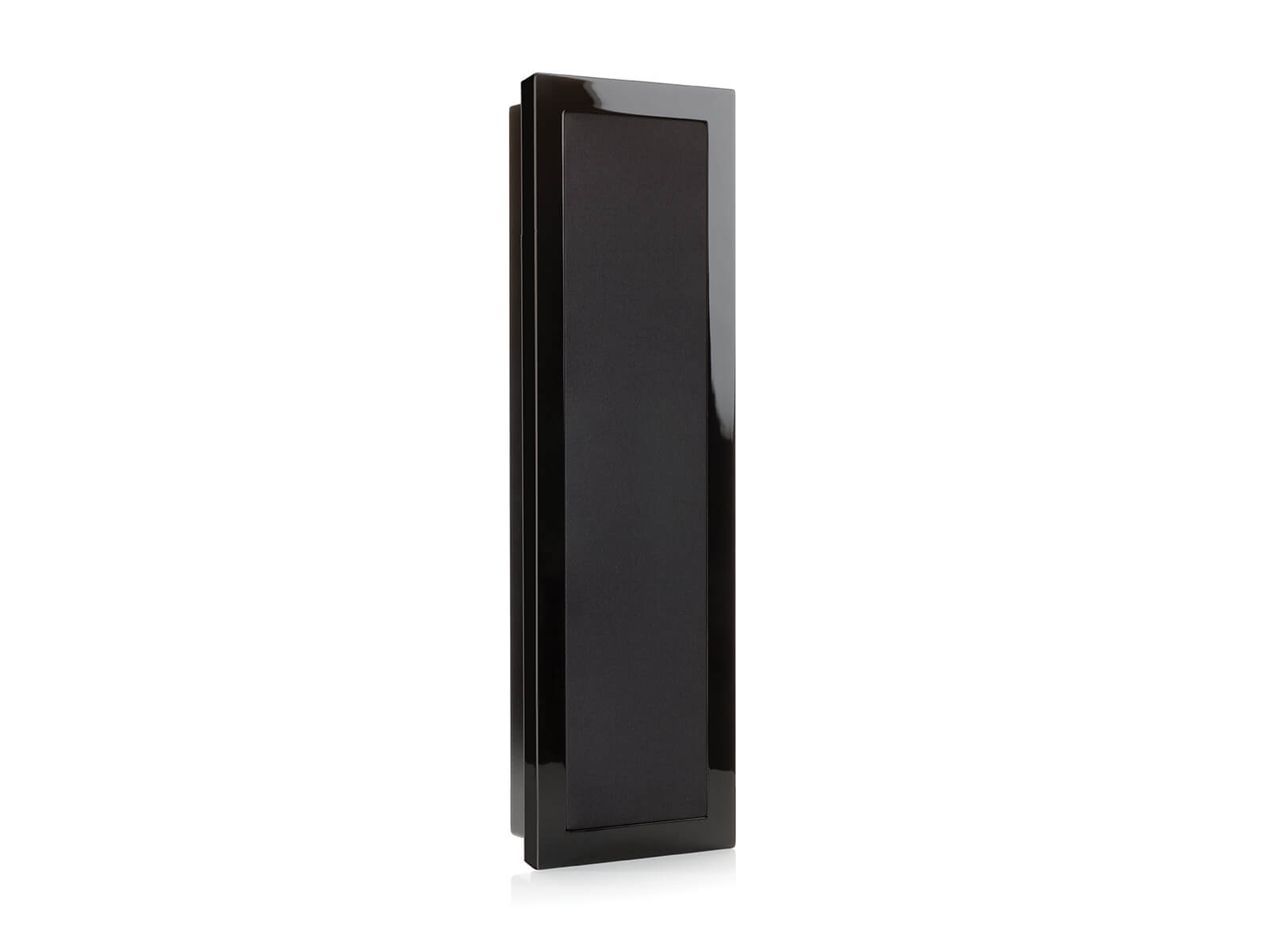 SoundFrame SF2, in-wall speakers, with a high gloss black lacquer finish.