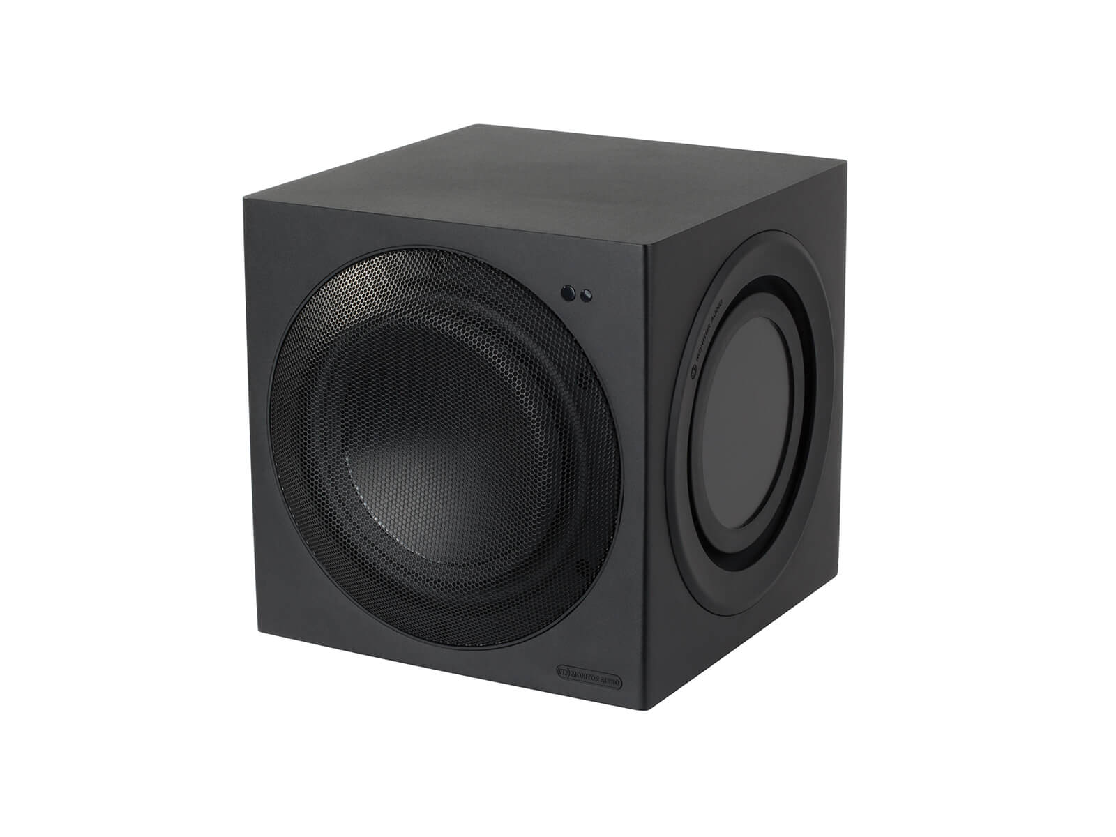 CW8 compact subwoofer, ISO view.