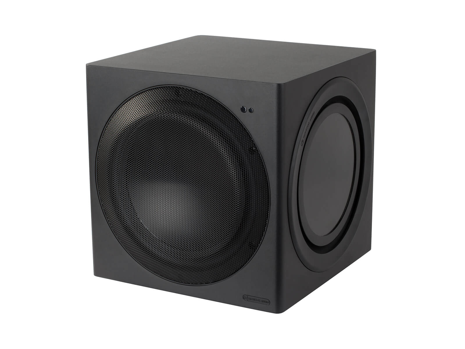CW10 compact subwoofer, ISO view.