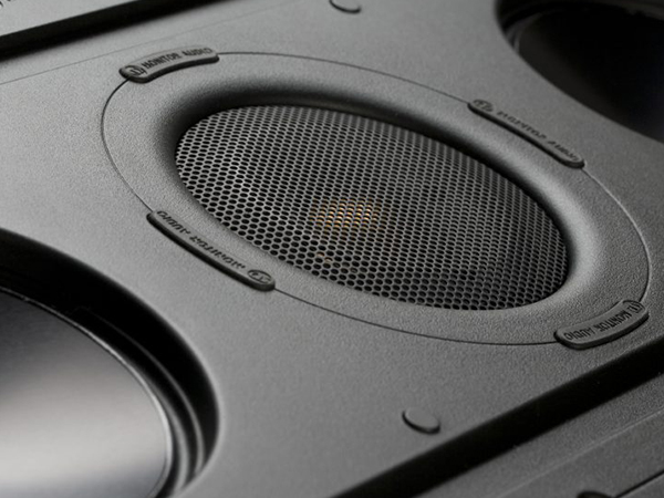 Controlled Performance CP-IW260X in-wall speakers, detail view.