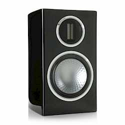 Gold 100, grille-less bookshelf speakers, with a piano black lacquer finish. - thumbnail