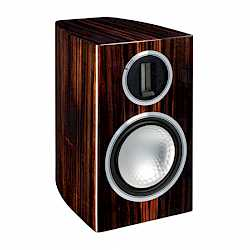 Gold 50, grille-less bookshelf speakers, with a piano ebony finish. - thumbnail