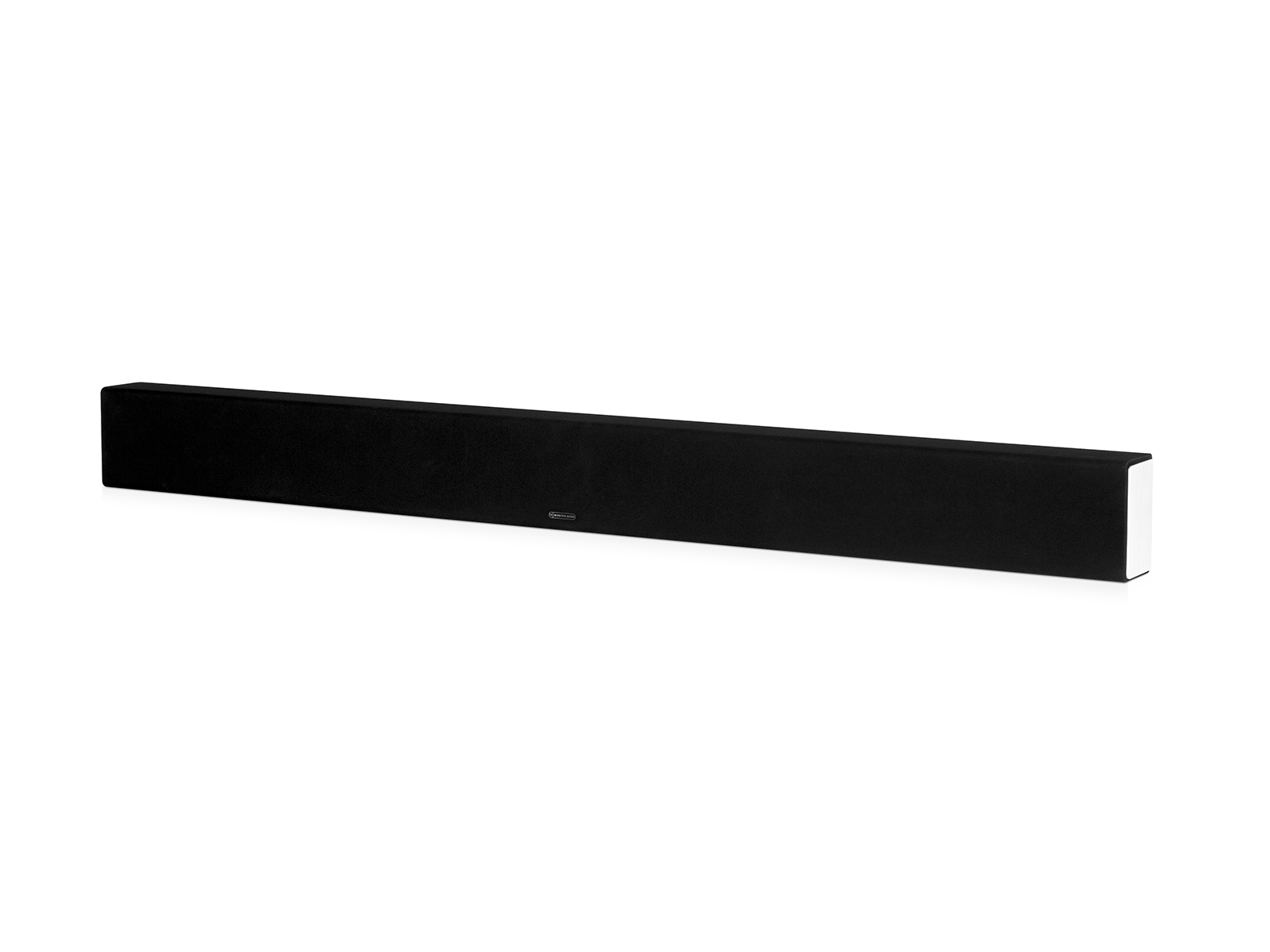 SB-4, passive soundbar speaker, side on, with a black cloth grille.