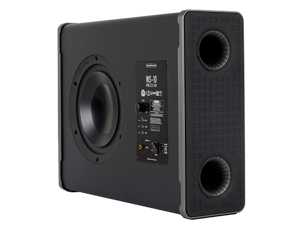 WS-10 subwoofer, ISO side rear view.