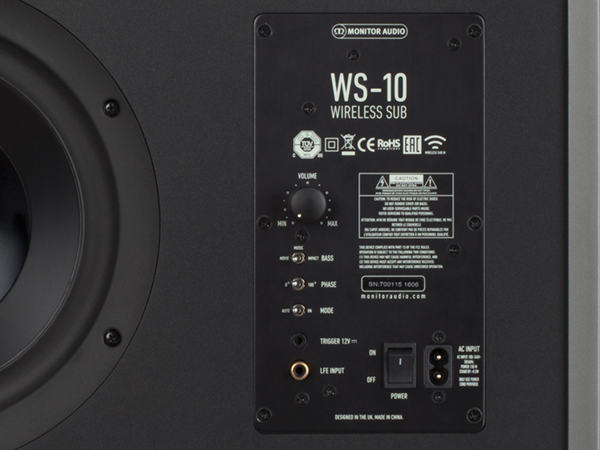 WS-10 subwoofer, with ASB-10 active Soundbar, WT-1 transmitter and WR-1 receiver.