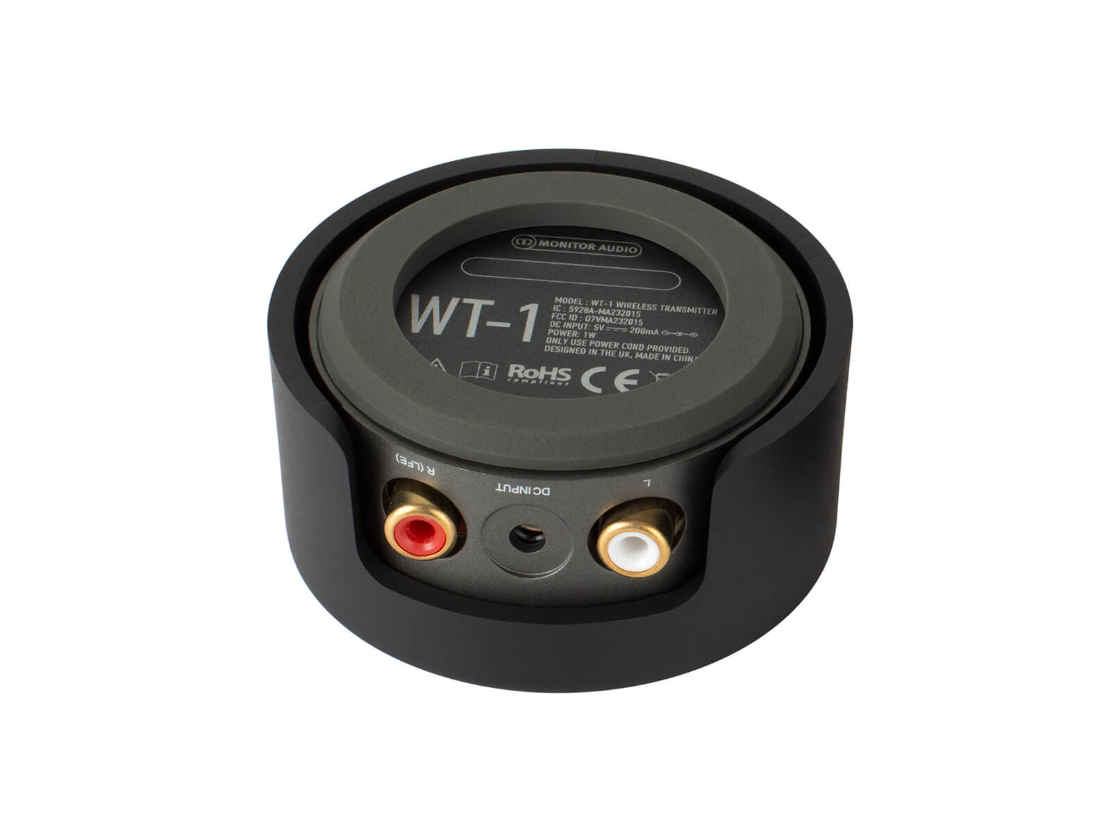 WT-1 ultra-compact wireless transmitter, bottom view.