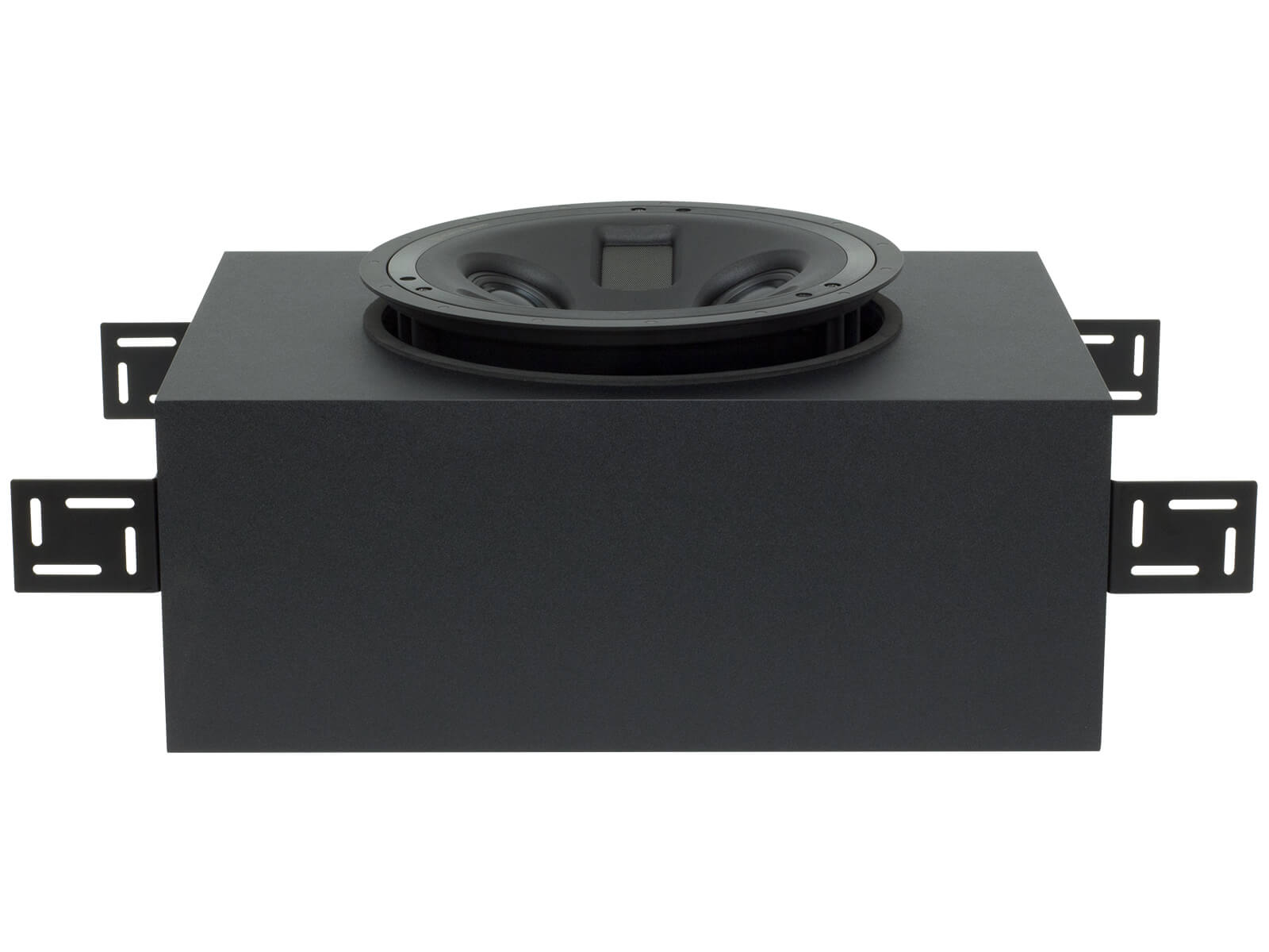 PLIC-BOX II in-ceiling back box for PLIC II in-ceiling speaker, top view with brackets.
