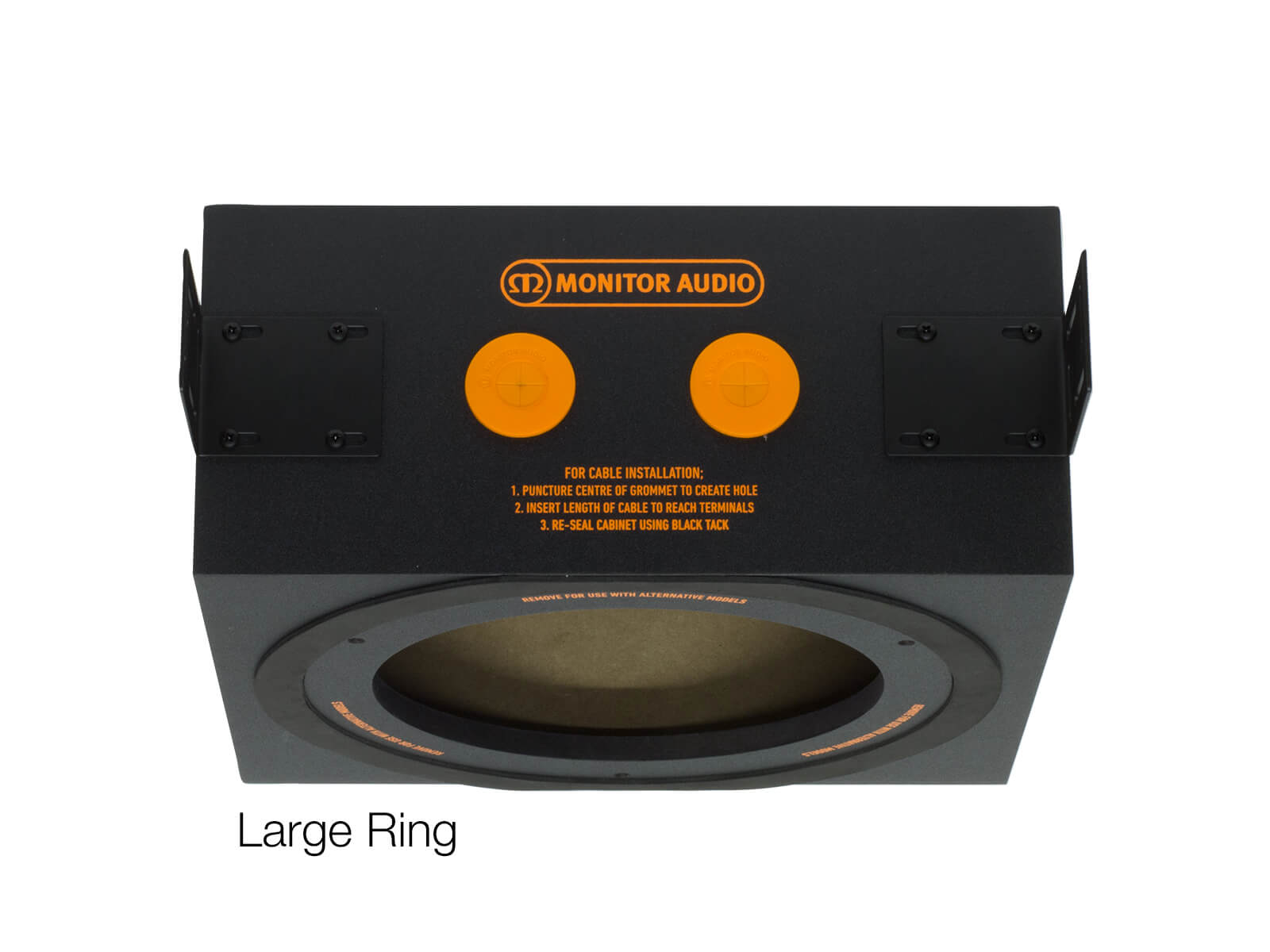 CMBOX-R PDF in-ceiling back box with a large ring.