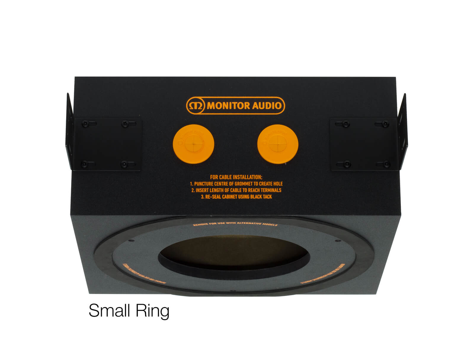 CMBOX-R PDF in-ceiling back box with a small ring.